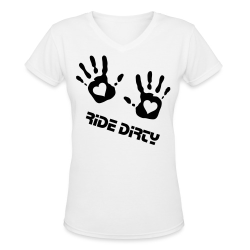 Dirty Hands - Women's V-Neck T-Shirt