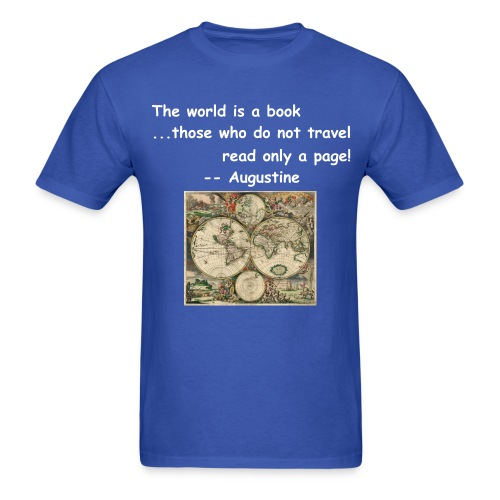 World is a book, 1 page? - Men's T-Shirt
