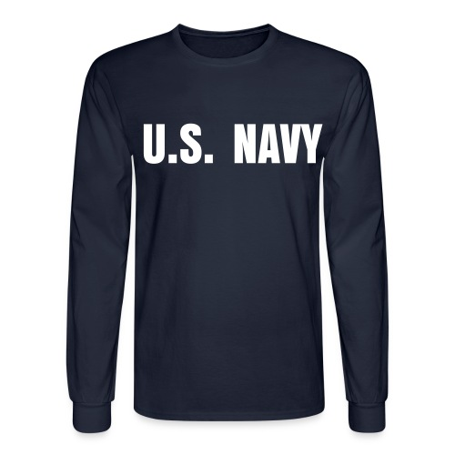 U.S. Navy Men's T-Shirt - Men's Long Sleeve T-Shirt