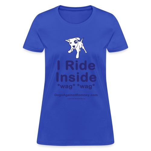 Official Dogs Against Mitt Romney Dog-on-Roof T-Shirt - Women's T-Shirt
