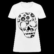 T-Shirts ~ Women's T-Shirt ~ Womens Style Skull Street Style Fashion T-Shirt