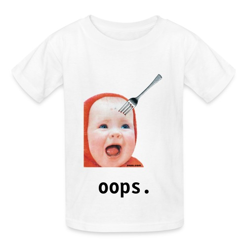 Baby with Fork in Head FOR KIDS! - Kids' T-Shirt