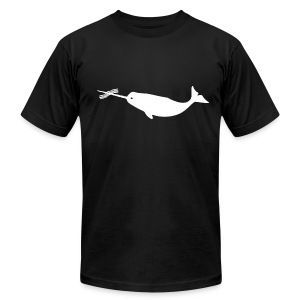 Men's Bacon Narwhal Tee (Front & Back) - Men's T-Shirt by American Apparel