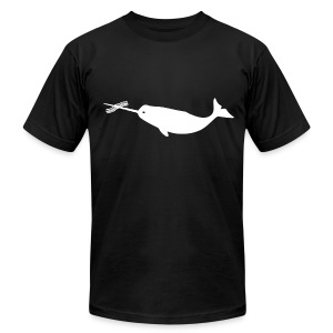 Men's Bacon Narwhal (Front Only) Tee - Men's Fine Jersey T-Shirt