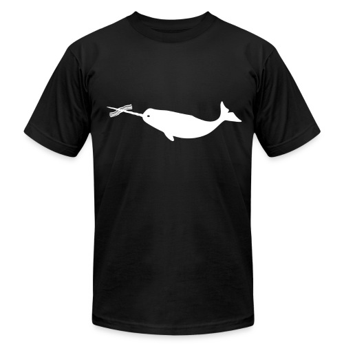 Men's Bacon Narwhal (Front Only) Tee - Men's T-Shirt by American Apparel