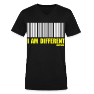 T-Shirts ~ Men's V-Neck T-Shirt by Canvas ~ BORN DIFFERENT