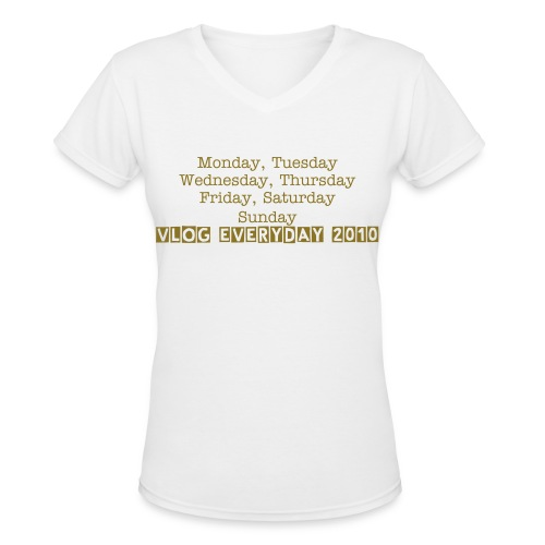 Vlog everyday - Women's V-Neck T-Shirt