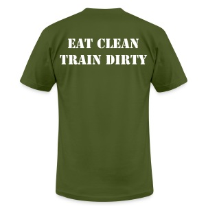 Men's Eat Clean, Train Dirty - Men's T-Shirt by American Apparel