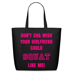 Eco-Friendly Cotton Tote - STRONG IS THE NEW SKINNY on the front