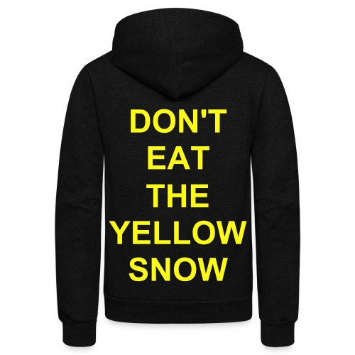 yellow snow - Unisex Fleece Zip Hoodie
