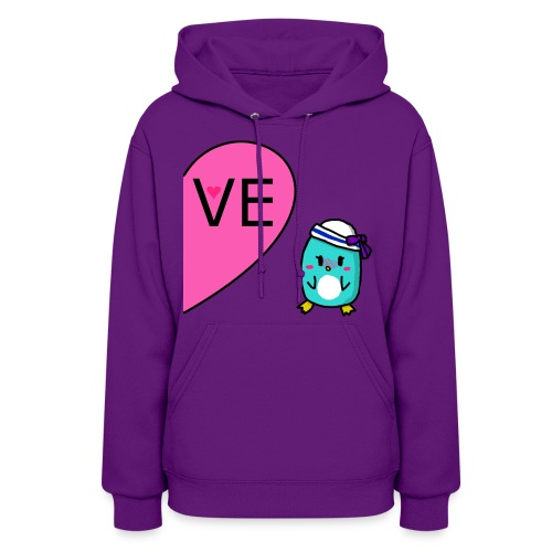 Girl Penguin Couple Shirt - Women's Hoodie