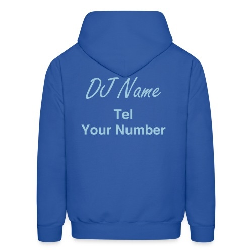 DJ Your Disco Company Name & Sign - Men's Hoodie