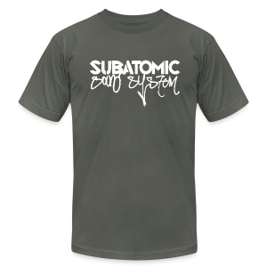 Subatomic Sound System white graffiti logo - Men's Fine Jersey T-Shirt