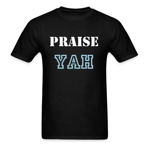ROY G BIV - Men's T-shirt - Bblack/White/Powder Blue - Praise Yah - Men's T-Shirt