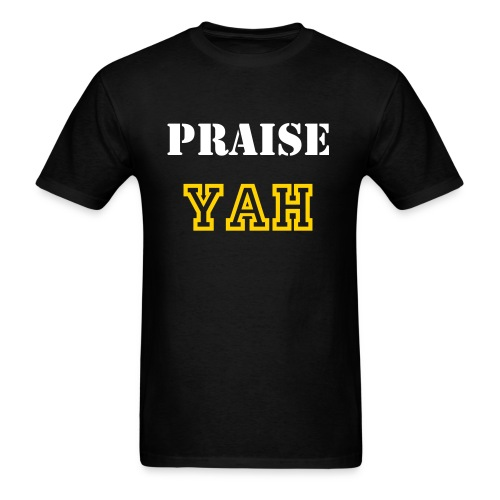 ROY G BIV - Men's T-shirt - Bblack/White/Gold - Praise Yah - Men's T-Shirt