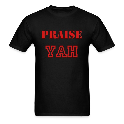 ROY G BIV - Men's T-shirt - Black/Red - Praise Yah - Men's T-Shirt