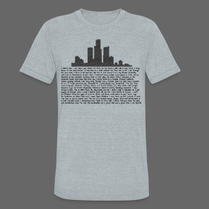 I am Detroit - Unisex Tri-Blend T-Shirt by American Apparel