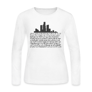 Long Sleeve Shirts ~ Women's Long Sleeve Jersey T-Shirt ~ I am Detroit