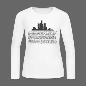 I am Detroit - Women's Long Sleeve Jersey T-Shirt