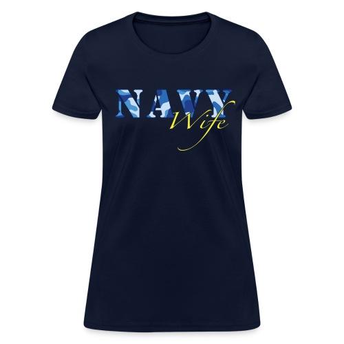 Navy Wife - Women's T-Shirt