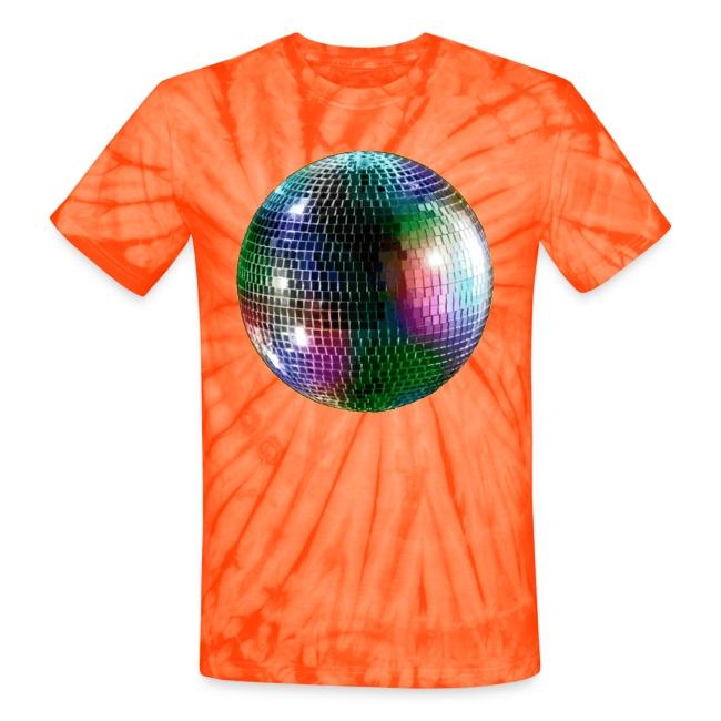f1d7183a1 Twin Cities Wedding DJs   Mirror Ball Disco Tie-Dye Shirt - Unisex ...