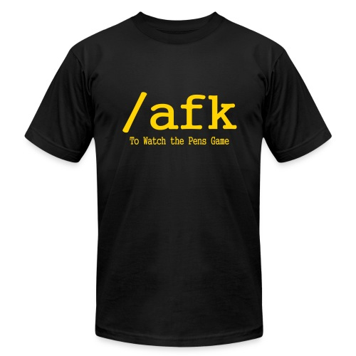 /afk To Watch the Pens Game - Men's Fine Jersey T-Shirt