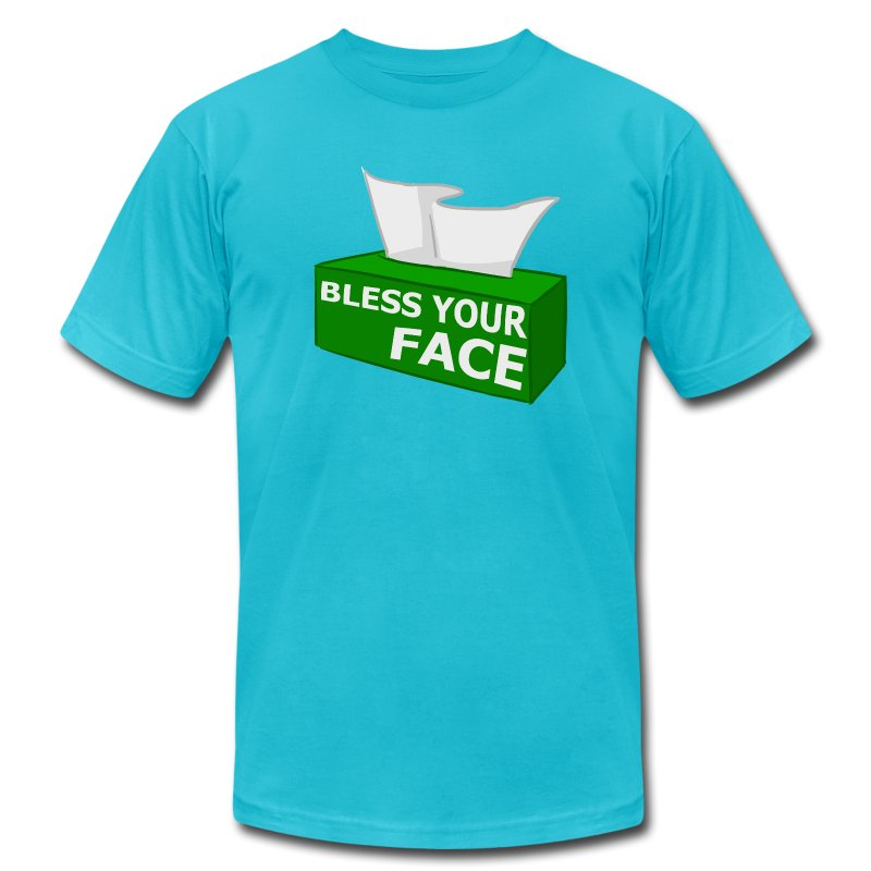 BLESS YOUR FACE (American Apparel) - Men's T-Shirt by American Apparel
