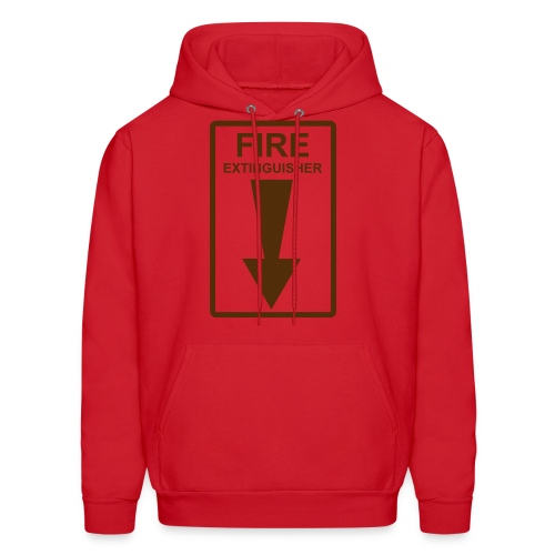 Red Hoodie w/ Fire Extinguisher - Men's Hoodie