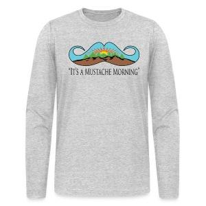 Mustache Mornin' - Men's Long Sleeve T-Shirt by Next Level