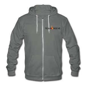 Team Reeve Unisex Fleece Zip Hoodie - Unisex Fleece Zip Hoodie by American Apparel