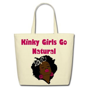 SN&LI! TNC Kinky Girls Go Natural Tote - Eco-Friendly Cotton Tote