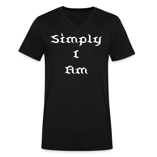 Simply I Am - Men's V-Neck T-Shirt by Canvas
