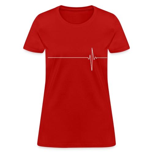 Heartbeat (white) - Women's T-Shirt