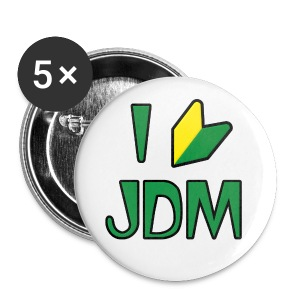 I Love JDM Button - Small Buttons