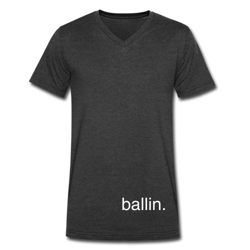 heathered t- ballin - Men's V-Neck T-Shirt by Canvas