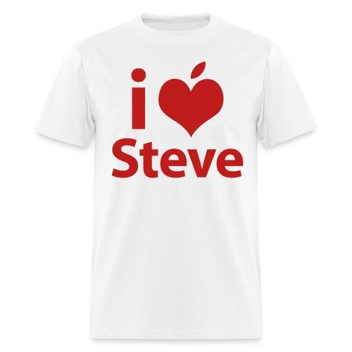 Mens Standard Weight T-Shirt - I Love steve - Men's T-Shirt