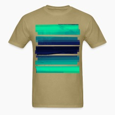 Light Green Gradient Stripes T-Shirts