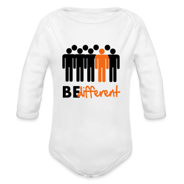 Be different Vector Design Baby Bodysuits