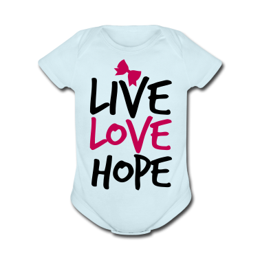 LIVE LOVE HOP with a  bow cute! Baby Bodysuits