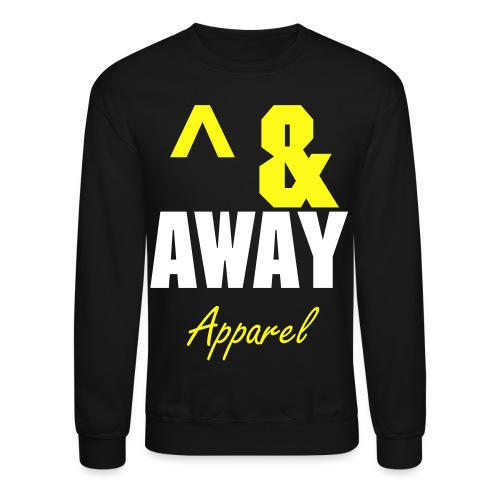 Up & Away (Black&Yellow) - Crewneck Sweatshirt