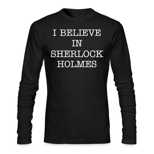 #believeinsherlock long sleeved tee - Men's Long Sleeve T-Shirt by Next Level