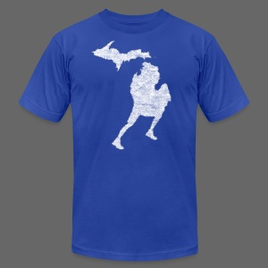 Love Michigan Running - Men's T-Shirt by American Apparel