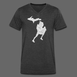 Love Michigan Running - Men's V-Neck T-Shirt by Canvas
