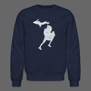 Love Michigan Running - Crewneck Sweatshirt