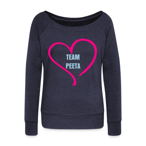 TEAM PEETA SHIRT - Women's Wideneck Sweatshirt