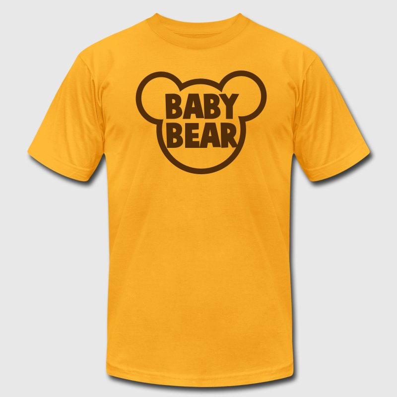 BABY BEAR in a teddy shape super cute! T-Shirts - Men's T-Shirt by American Apparel