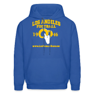 Hoodies ~ Men's Hoodie ~ Los Angeles Football Sweatshirt (Royal Blue)