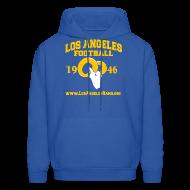 Hoodies ~ Men's Hoodie ~ Los Angeles Football Sweatshirt (Royal Blue)
