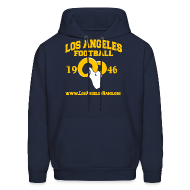 Hoodies ~ Men's Hoodie ~ Los Angeles Football Sweatshirt (Navy Blue)