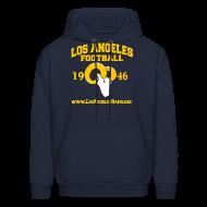 Hoodies ~ Men's Hoodie ~ Los Angeles Football Sweatshirt (Navy Blue)